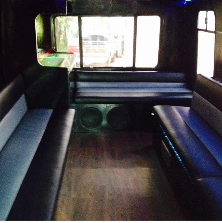 NT Mini Party Bus interior