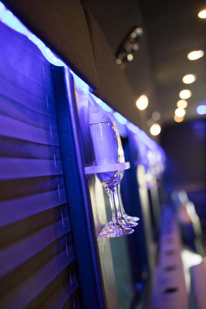 Ambassador Bus (Interior, Champagne Glasses)